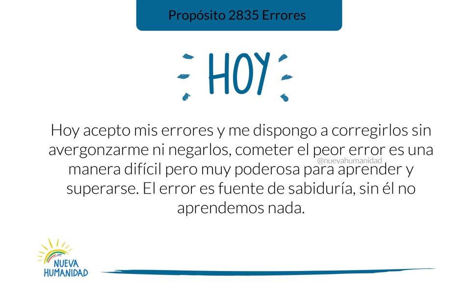 Propósito 2835 Errores