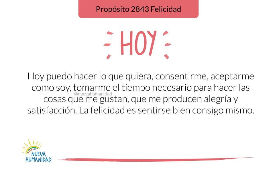 Propósito 2843 Felicidad