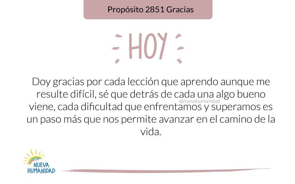 Propósito 2851 Gracias