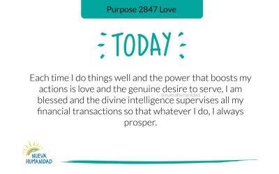 Propósito 2847 Amor