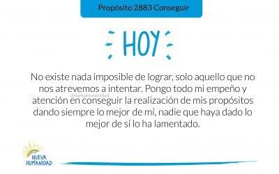 Propósito 2883 Conseguir