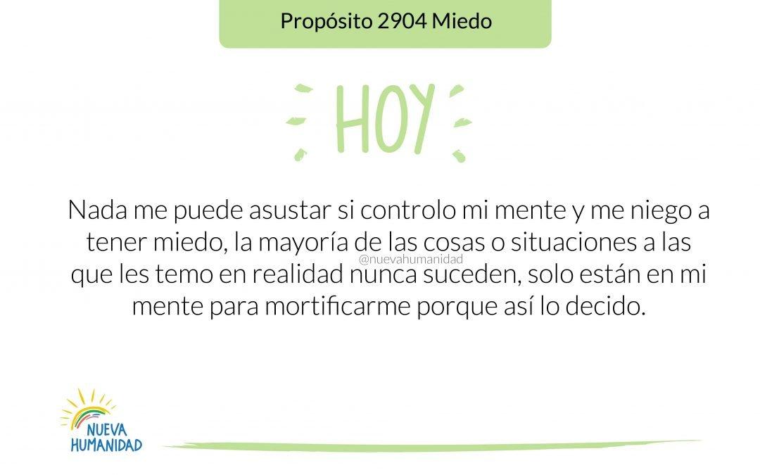 Propósito 2904 Miedo