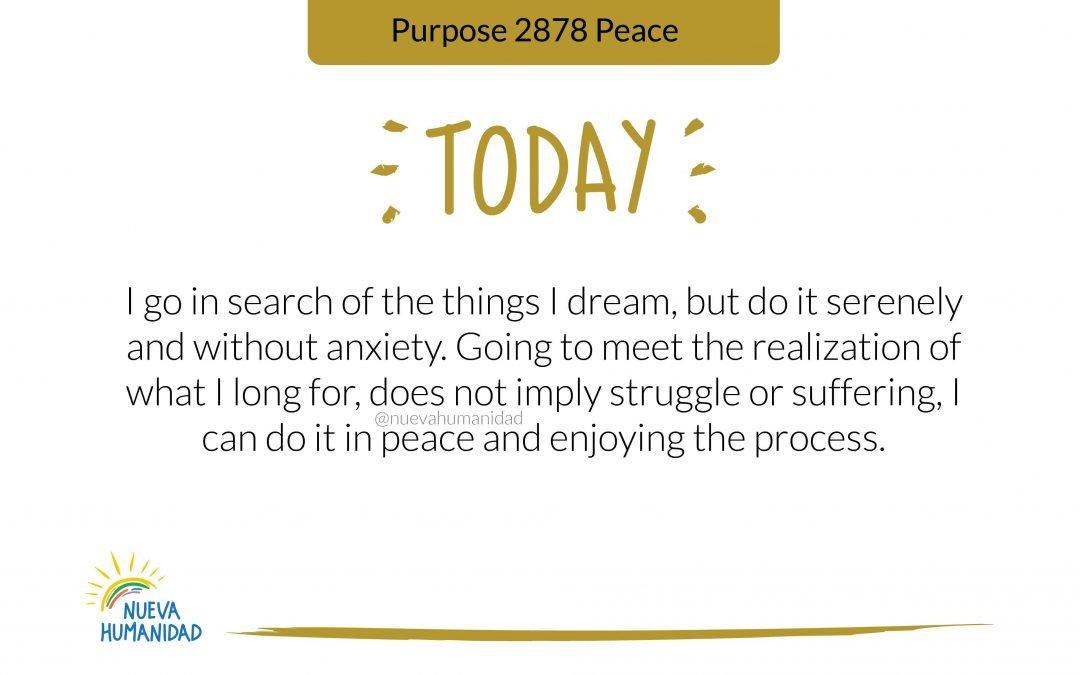 Purpose 2878 Peace