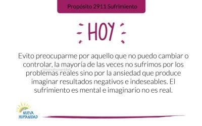 Propósito 2911 Sufrimiento