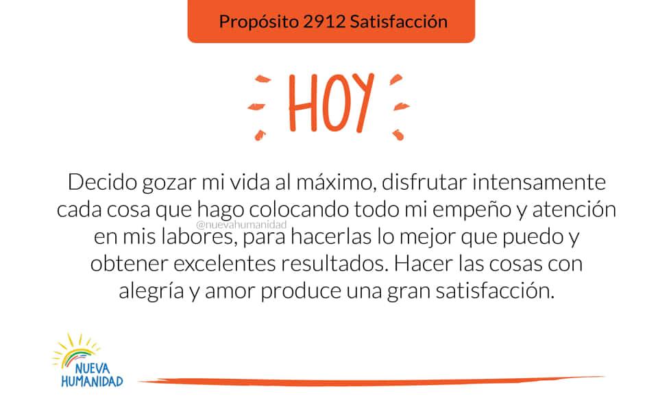 Propósito 2912 Satisfacción