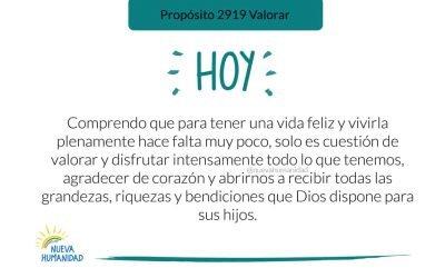 Propósito 2919 Valorar