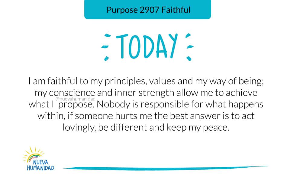 Purpose 2907 Faithful