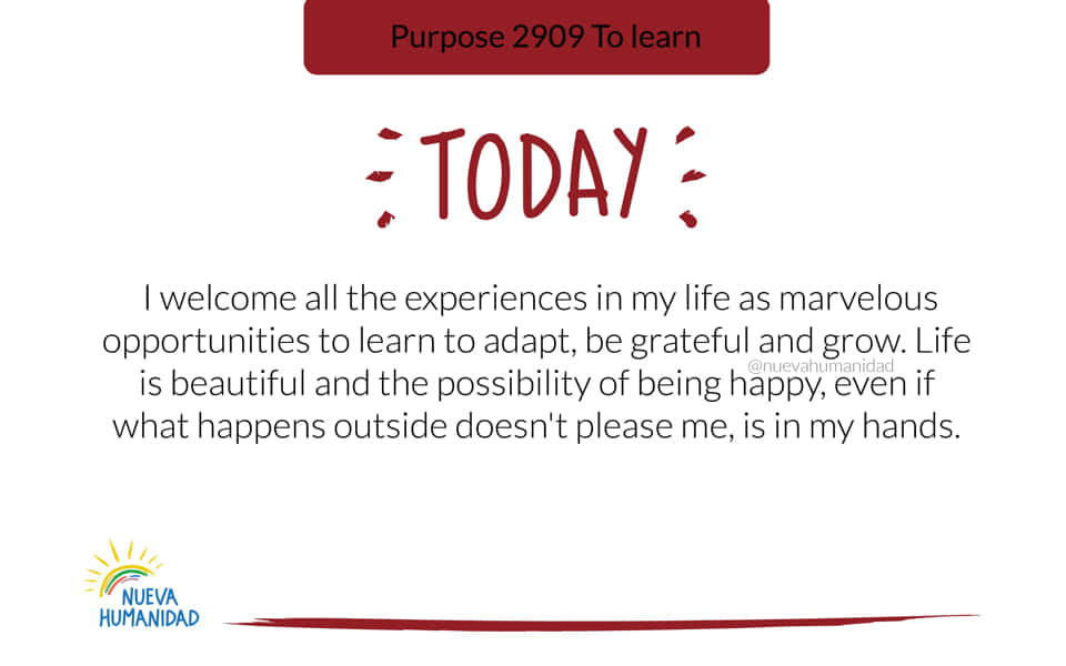 Purpose 2909 To learn