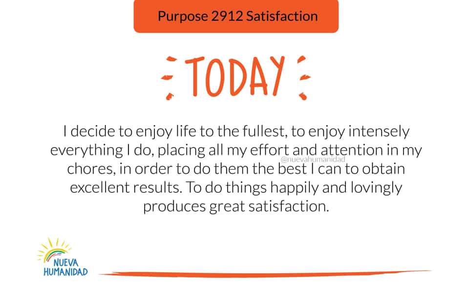 Purpose 2912 Satisfaction