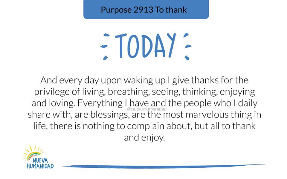 Purpose 2913 To thank