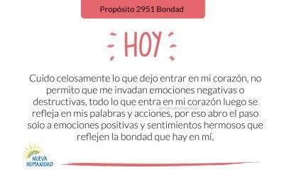 Propósito 2951 Bondad
