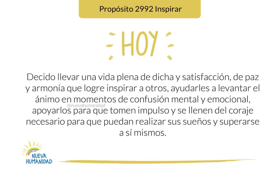 Propósito 2992 Inspirar