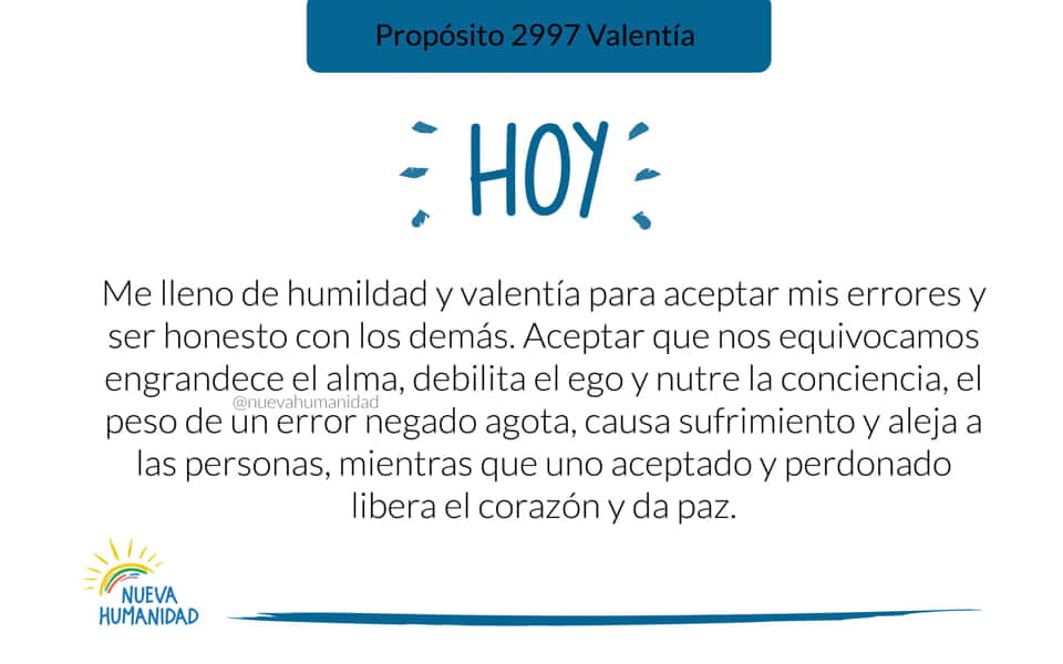 Propósito 2997 Valentía