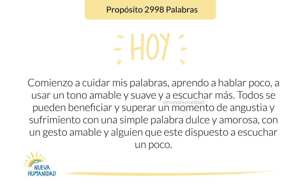 Propósito 2998 Palabras