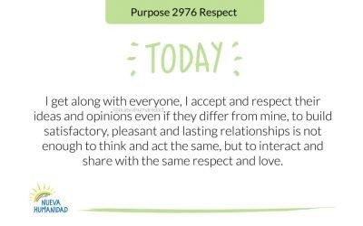 Purpose 2976 Respect