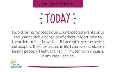 Purpose 2995 Peace