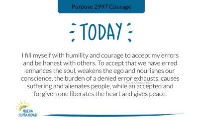Purpose 2997 Courage