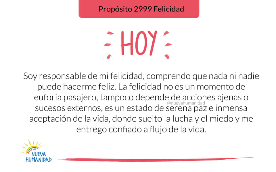 Propósito 2999 Felicidad