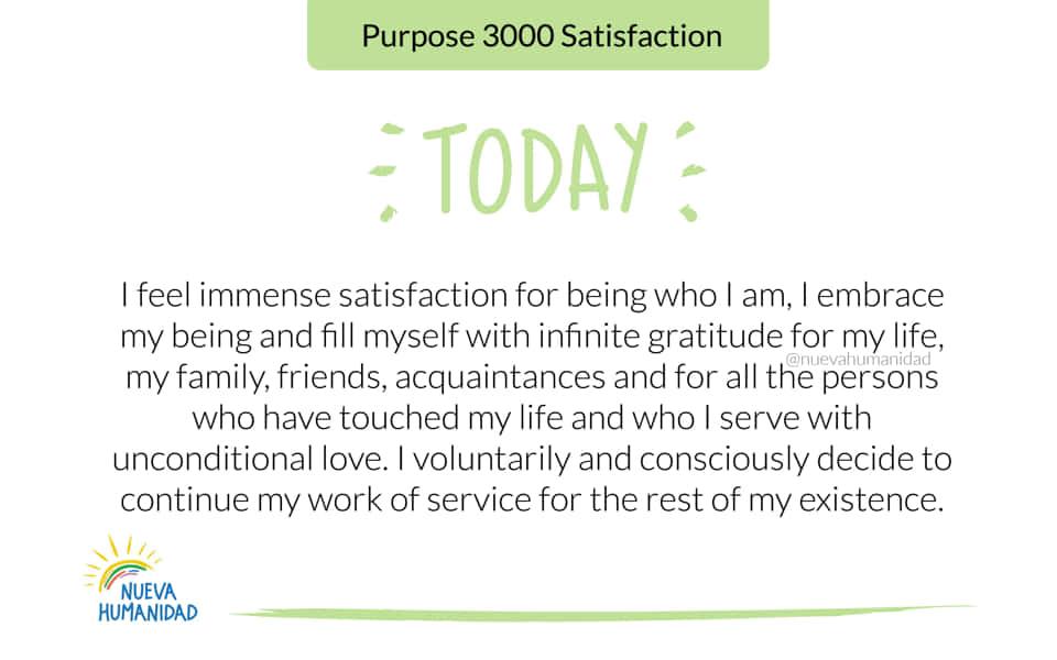Purpose 3000 Satisfaction