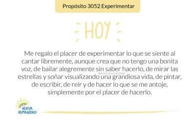 Propósito 3052 Experimentar