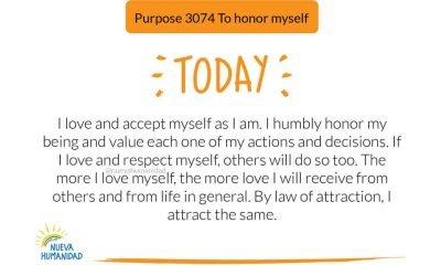 Purpose 3074 To honor myself