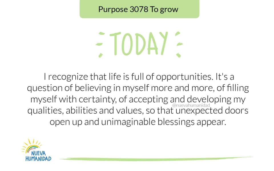Purpose 3078 To grow