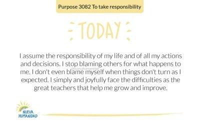 Purpose 3082 To take responsibility